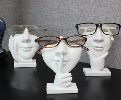 face eyeglass stands